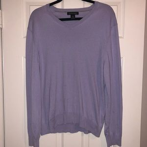 Lavender Silk Cashmere V- Neck Sweater